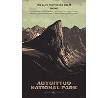Auyuittuq National Park poster Photographic Print