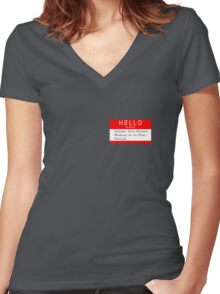 Highlander - Hello my name is... Women's Fitted V-Neck T-Shirt