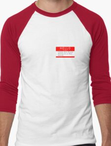 Highlander - Hello my name is... Men's Baseball ¾ T-Shirt