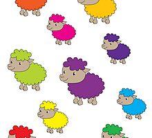 Colourful sheep by Lauren Eldridge-Murray