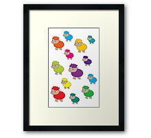 Colourful sheep Framed Print