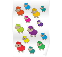 Colourful sheep Poster