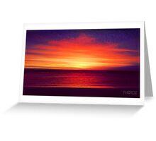 Coastal Summer Sunset WA Greeting Card