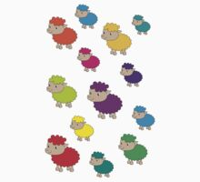 Colourful sheep Kids Clothes