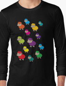 Colourful sheep Long Sleeve T-Shirt