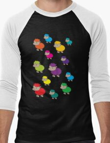 Colourful sheep Men's Baseball ¾ T-Shirt