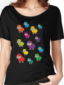 Colourful sheep Women's Relaxed Fit T-Shirt