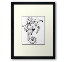 Daddy and me - Seahorse father and baby Framed Print