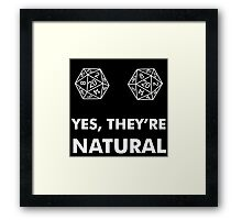 D20 Yes They're Natural Framed Print