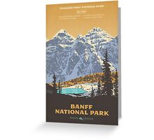 Banff National Park poster Greeting Card