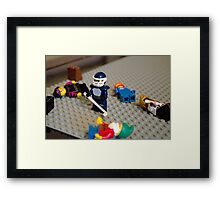 Lego Hockey Player Framed Print