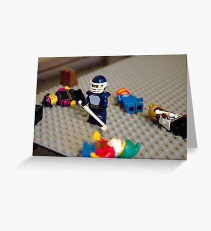 Lego Hockey Player Greeting Card