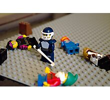 Lego Hockey Player Photographic Print