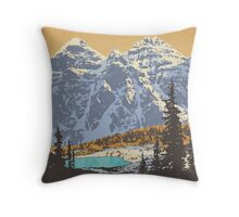 Banff National Park poster Throw Pillow