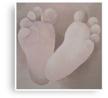 Little feet Canvas Print