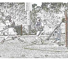 051612 192  pastel sketch boys lacrosse Photographic Print