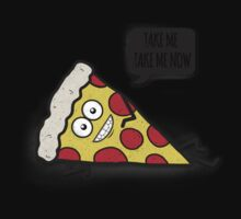 Funny & Cute Delicious Pizza Slice wants only you! One Piece - Short Sleeve