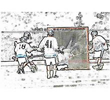 051612 256 pastel sketch boys lacrosse Photographic Print