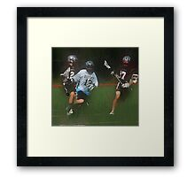 051612 260 0 oil boys lacrosse Framed Print