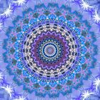 Blue Kaleidoscope Mandala iPhone case by Vicki Field