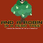 Robin in a Pear Tree - Print by IMTShop