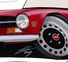 Triumph TR6 Carmine Red Sticker