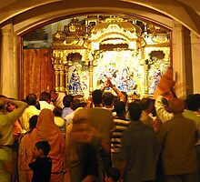 People offering prayers at the ISKCON temple in Delhi by ashishagarwal74