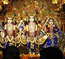 Statues of Ram, Lakshman and Sita at the ISKCON temple in Delhi by ashishagarwal74