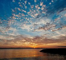 Solomons Island Sunset - Chesapeake Bay, Maryland USA by Vincent Frank