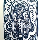 Evil Be Gone, Hamsa by Suzi Linden