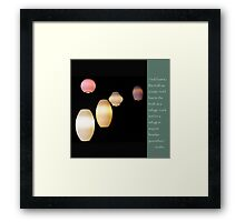 Be a Lamp Unto Yourself Framed Print