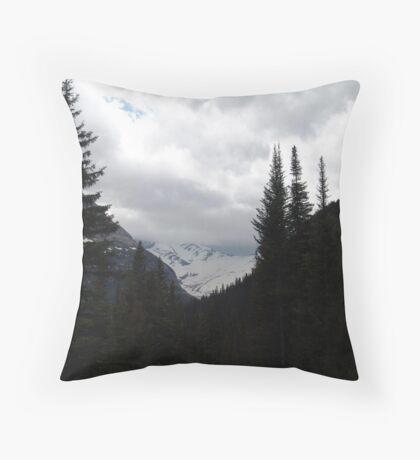 GLACIER THROUGH A FRAME Throw Pillow