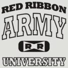 Red Ribbon Army University tee (black) by karlangas