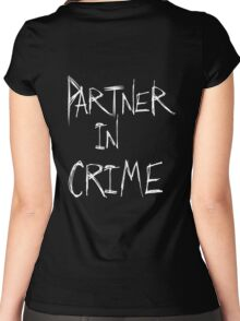 Partner in Crime DARK Women's Fitted Scoop T-Shirt