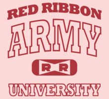 Red Ribbon Army University tee (red) by karlangas
