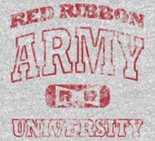 Red Ribbon Army University vintage (red) by karlangas