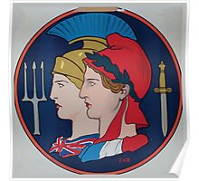 Emblem of France and Great Britain 002 Poster