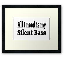Silent Bass Framed Print