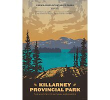 Killarney Provincial Park poster Photographic Print