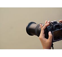 Using a zoom lens and a digital camera and reviewing the results on the LCD Photographic Print