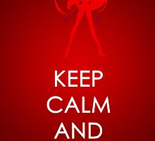 Keep Calm Sailor Mars Posters by SimplySM