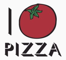 I LOVE PIZZA T-shirt Kids Clothes