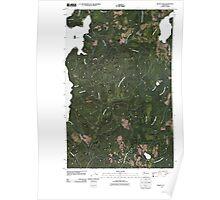 USGS Topo Map Washington State WA Dickey Lake 20110418 TM Poster