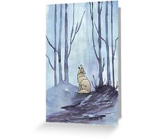 From silvery woods there comes a call Greeting Card