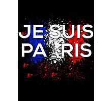 Je Suis Paris - Paint Flag France Photographic Print