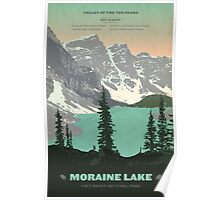Moraine Lake poster Poster