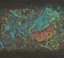 Io moth - female by Edmund J. Gray