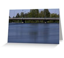 Bridge and a river Greeting Card