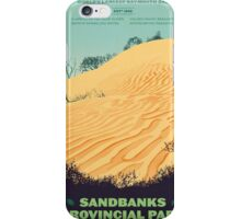 Sandbanks Provincial Park poster iPhone Case/Skin
