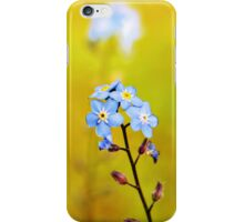 Forget me not flower  iPhone Case/Skin